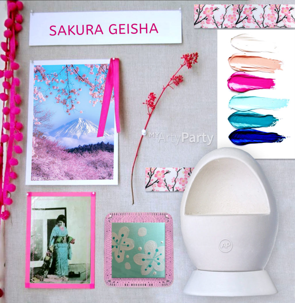 moodboard sakura geisha